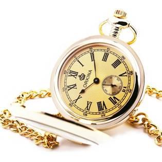 Zlacené otevírací kapesní hodinky - cibule