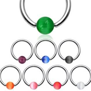 Piercing kruh akrylát, rozměr 1,2 x 10 mm