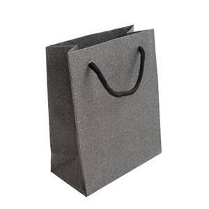 Malá dárková taška stříbřitě šedá