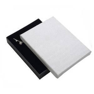 Velká krabička na soupravu šperků, stříbrná/černá