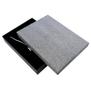 Velká krabička na soupravu šperků, stříbřitě šedá/černá