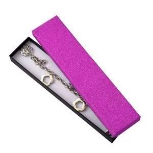 Dárková krabička na náramek, růžová/černá