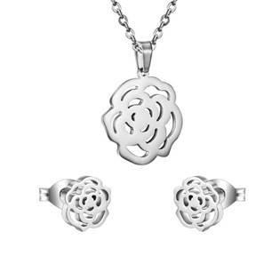 Set šperků z chirurgické oceli, růžičky