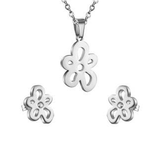 Set šperků z chirurgické oceli, kytičky