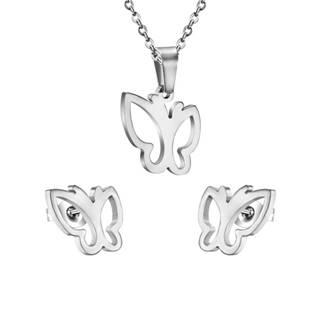 Set šperků z chirurgické oceli, motýlci