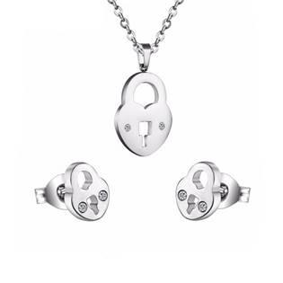 Set šperků z chirurgické oceli, zámečky