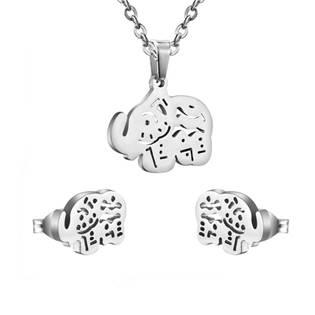 bf263c681 Ocelové šperky | Set šperků z chirurgické oceli, sloníci | Levné ...