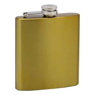 Zlacená ocelová kapesní lahev - placatka 175 ml