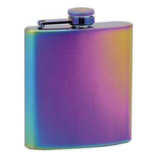 Duhová ocelová kapesní lahev - placatka 175 ml