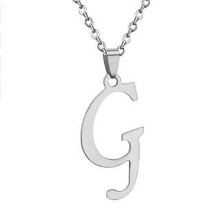 Ocelový řetízek s přívěškem iniciálou G