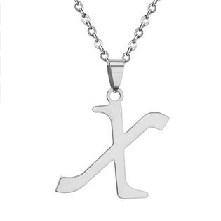 Ocelový řetízek s přívěškem iniciálou X
