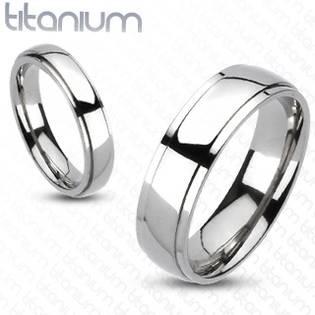 TT1021 Pánský snubní prsten titan - velikost 57 - TT1021-6-57