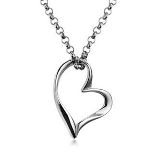 70f747858 Ocelový řetízek s přívěškem - srdce | Levné ocelové šperky