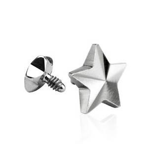 Microdermal - ozdobná část - hvězda 4 mm