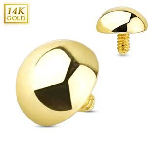 Zlatý piercing - dermál půlkulička 4 mm, Au 585/1000 - ZL01047-04
