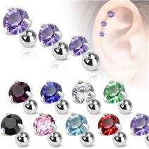 Cartilage piercing do ucha, zirkon 3 mm