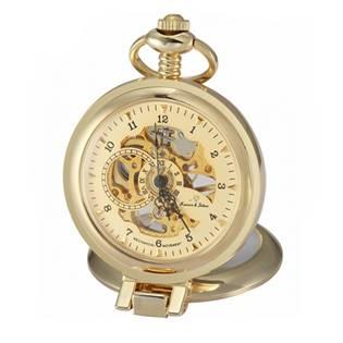 Zlacené kapesní hodinky v dárkové krabičce