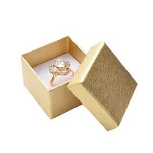 Dárková krabička na prsten nebo náušnice - zlatá