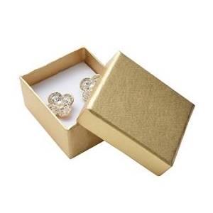 Dárková krabička na náušnice - zlatá