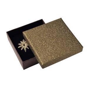 Krabička na soupravu šperků, stříbřitě hnědá