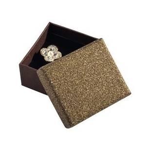 Dárková krabička na náušnice, stříbřitě hnědá