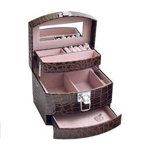 Šperkovnice - hnědá koženka