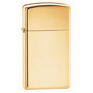 ZIPPO Slim High Polish Brass