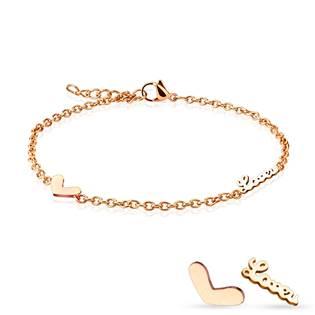 Dámský zlacený ocelový náramek na ruku/nohu