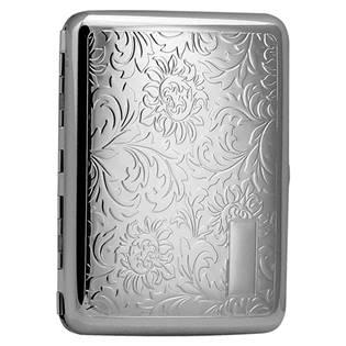 Tabatěrka - pouzdro na cigarety s květinovým dekorem