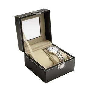Šperkovnice na ukládání hodinek - černá