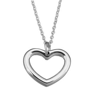 Ocelový řetízek s přívěškem - srdce