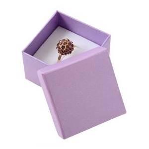 Malá dárková krabička na prsten - perleťově fialová