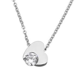 Ocelový náhrdelník se zirkonem