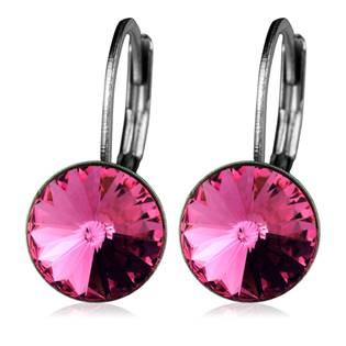 Ocelové náušnice s krystaly Swarovski®, ROSE