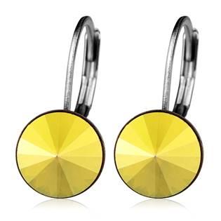 Ocelové náušnice s krystaly Swarovski®, METALLIC SUNSHINE