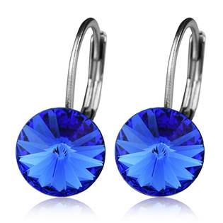 Ocelové náušnice s krystaly Swarovski®, SAPPHIRE