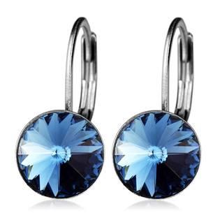 Ocelové náušnice s krystaly Swarovski®, DENIM BLUE