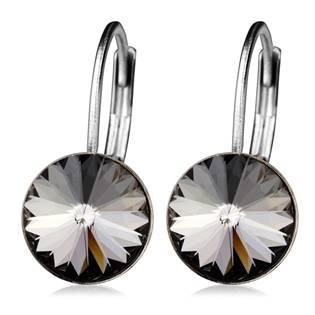 Ocelové náušnice s krystaly Swarovski®, BLACK DIAMOND