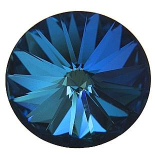 Crystals Swarovski® RIVOLI 14 mm, BERMUBA BLUE