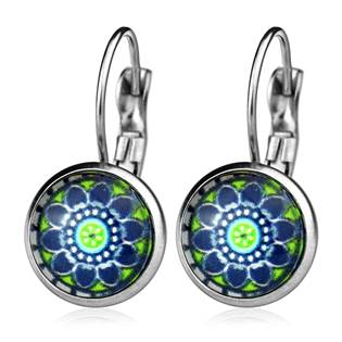 Ocelové náušnice s ornamenty