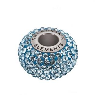 Navlékací přívěšek korálek s krystaly Swarovski®, Aquamarine