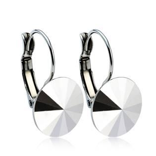 Ocelové náušnice s krystaly Swarovski® 12 mm, CRYSTAL CAL