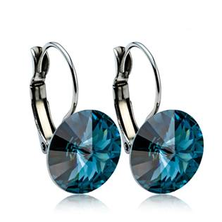 Ocelové náušnice s krystaly Swarovski® 12 mm, MONTANA