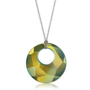 Náhrdelník Victory s kamenem Crystals From Swarovski®, IRIDESCENT GREEN