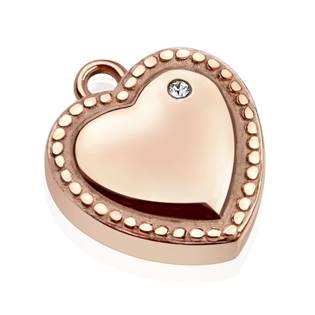 Drobný ocelový přívěšek - srdce zlacené empty abbec40c6dd