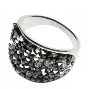 Ocelový prsten s krystaly Crystals from Swarovski®, PEPPER