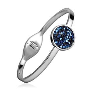 Ocelový náramek s krystaly Crystals from Swarovski® BLUELIZED