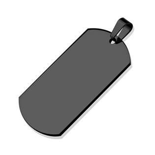 Ocelový přívěšek - vojenská známka EXTRA VELKÁ, černá