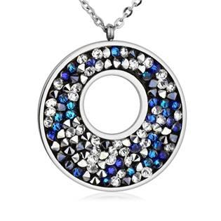 Ocelový náhrdelník s krystaly Crystals from Swarovski®, BERMUDA BLUE PEPPER
