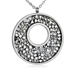 Ocelový náhrdelník s krystaly Crystals from Swarovski®, CRYSTAL
